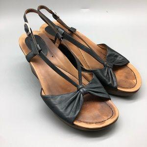 Dansko ankle strap wedge platform sandals